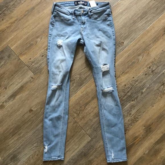 3763abd6f042b Hollister Jeans | Low Rise Light Ripped Jean Leggings | Poshmark